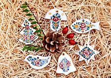 Dekorácie - Vianočná sada: Vianočné ozdôbky - 12537643_