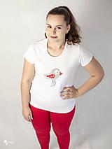 Tričká - Folk vtáčik - dámske a detské tričko /body - 12537743_