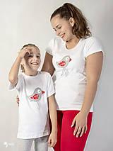 Tričká - Folk vtáčik - dámske a detské tričko /body - 12537745_
