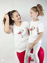 Tričká - Folk vtáčik - dámske a detské tričko /body - 12537746_