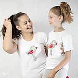 Tričká - Folk vtáčik - dámske a detské tričko /body - 12537751_
