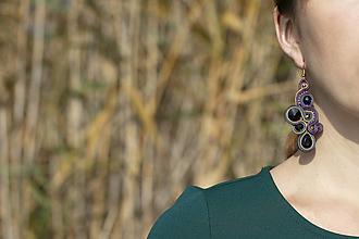 Náušnice - Odtiene z Maroka - soutache earring -ručne šité šujtášové náušnice - 12541258_
