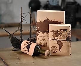 Papiernictvo - kožený midori zápisník ORBIS - 12539525_