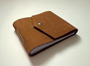 Papiernictvo - Kožený fotoalbum 13x16 cm hnedý- nubuk - 12539393_