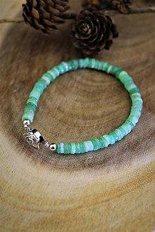 Náramky - chryzopras náramok - luxusný šperk pre náročného zákazníka - 12537762_