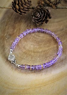 Náramky - ametrín náramok - luxusný šperk pre náročného zákazníka - 12537792_