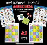 Hračky - PDF pexeso ABECEDA A3 - 12538425_