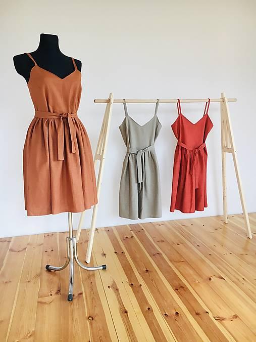 Šaty - Ľanové šaty  - 12540034_
