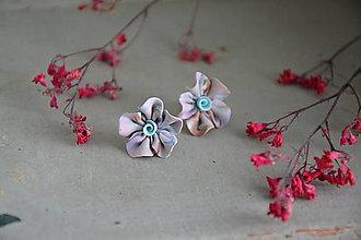Náušnice - AKCIA - Nežné ruže, fimo, napichovačky - 12538336_