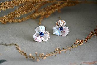 Náušnice - Ružičky, náušnice, fimo - 12538356_
