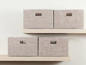 Košíky - Úložný box do police (36,5 x 25 x 22,5 cm) - 12541474_