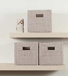 Košíky - Úložný box do police (24 x 25 x 22,5 cm) - 12541534_