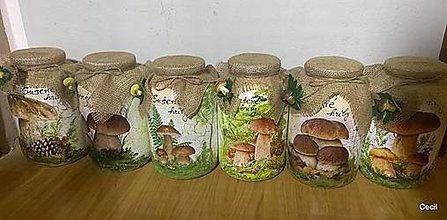 Nádoby - Fľaše na sušené hríby - 12541785_