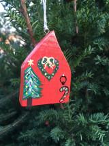 Dekorácie - Vianočné dvere. Domček drevený.. - 12540823_