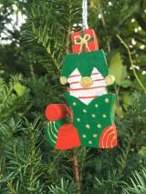 Dekorácie - Drevená čižma. Vianočná - 12540850_