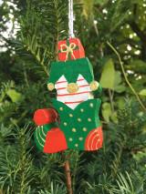 Dekorácie - Drevená čižma. Vianočná - 12540851_