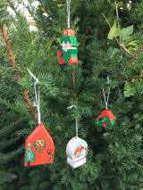 Dekorácie - Drevená čižma. Vianočná - 12540852_