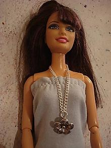 Hračky - Náhrdelník pre Barbie s kvetom - 12540537_