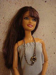 Hračky - Retiazka pre Barbie - mosadzný kvet - 12540587_