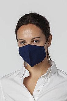 Rúška - Ochranné bavlnené rúško tmavomodré - 12542358_