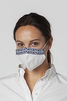 Rúška - Ochranné bavlnené rúško biele - 12542532_