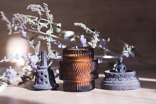 Svietidlá a sviečky - LIMITOVANÁ EDÍCIA - ŠALVIA a CITRÓNOVÁ TRÁVA, vonná sójová sviečka - 12537731_