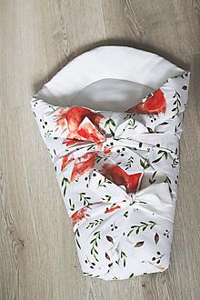 Textil - Detská zavinovačka - lesné srnky - 12539284_