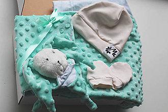 Textil - Darčekový set - mentolový - 12539333_