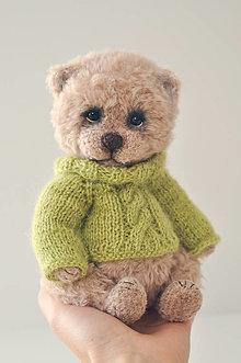 Hračky - Háčkovaný medvedík Oscar - 12538906_