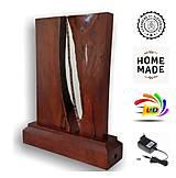 Svietidlá a sviečky - Stolná lampa vyrobená z dreva a epoxidu - 12537708_