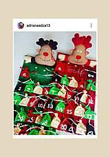 Hračky - Adventný kalendár sobík - 12546340_