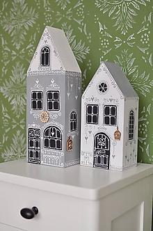 Dekorácie - Domčeky maľované 1 - 12545193_