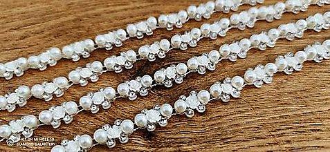 Galantéria - Borta peličková - Biela 10 mm - Cena za 10 cm - 12546255_