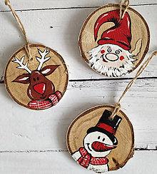 """Dekorácie - Vianočné odzoby """"Veselé tváre"""" - 12547245_"""