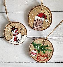 """Dekorácie - Vianočné ozdoby """"Veselé Vianoce"""" - 12547261_"""