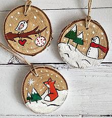 """Dekorácie - Vianočné dekorácie """"Zasnežené"""" - 12547266_"""