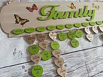 Rodinný kalendár s vlastným nápisom