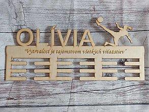 Dekorácie - Vešiak na medaily -veľký- futbalistka - 12546590_