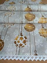 Úžitkový textil - Štóla vianočná zlaté gule - 12546168_