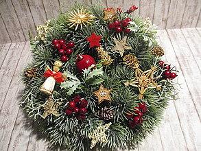 Dekorácie - Vidiecky vianočný venček - 12546700_
