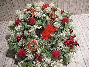 Dekorácie - Vianočný veniec - 12546729_