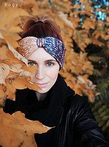 Čiapky - dvouvrstvá čelenka na mlýnku, barevný mix 55-58cm - 12546947_