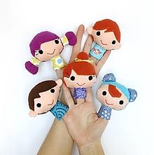 Hračky - Sada maňušiek na prst - Finger Family - na objednávku - 12543770_