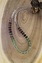 Náhrdelníky - náhrdelník fluorit a krištál AKCIA! - 12547268_