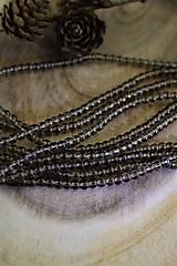 Minerály - záhneda korálky 4mm - 12547309_