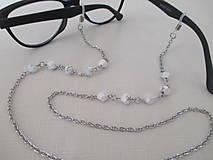 Iné šperky - Retiazka na okuliare - minerál howlit - chirurgická oceľ - 12543301_