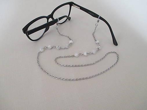 Retiazka na okuliare - minerál howlit - chirurgická oceľ