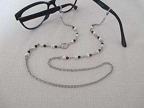 Iné šperky - Asimetrická retiazka na okuliare - yin yang - chirurgická oceľ - 12543229_