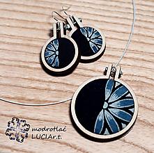 Sady šperkov - Set náušnice a náhrdelník MODRTOLAČ - 12547013_