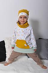 Detské oblečenie - Predĺžené mikinky LOVELY STRIPES 3 farby (biobavlna GOTS) - 12546051_